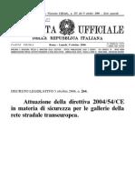 Gallerie Stradali DLgs 264 2006