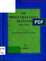 The Prince Vijayapala of Ceylon 1634-1654