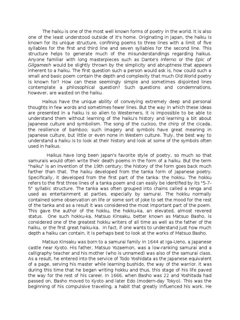 Analysis of the poetry of matsuo basho haiku shinto biocorpaavc Image collections