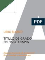 Libro Blanco Titulacion de Grado en Fisioterapia