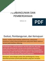 Pembangunan Dan Pemberdayaan