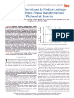 Modulation Techniques to Reduce Leakage Current in Three-Phase Transformerless H7 Photovoltaic Inverter