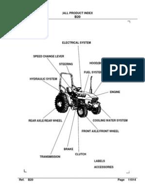 Kubota B20 Parts Catalog | Transmission (Mechanics) | Axle