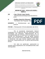 Memor Nº 42-2014 Felicitaciones Rufino