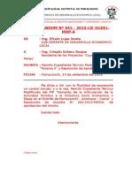 Memor Nº 45-2014 Remito Exp. Tec. Aprobado y Resolucion