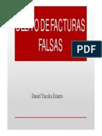 Delito de Facturas Falsas - Daniel Yacolca
