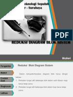 Reduksi Diagram Blok Sistem