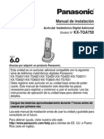 Panasonic kx-tga750 en español