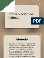 Conservación de Azimutes