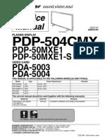 Pioneer Pda 5003 5004 Pdp 504cmx Pdp 50mxe1 s