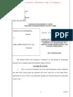 Whole Oats Ent. v. Early Bird Foods - Hall & Oates v. Haulin' Oats Trademark Complaint