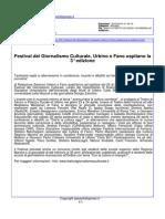 Festival del Giornalismo Culturale, Urbino e Fano ospitano la 3° edizione - paeseitaliapress.it del 3 marzo 2015