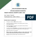 Financial Concepts a Main Paper - May 2012