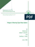 Fatigue of Bearing-Type Shear Splice