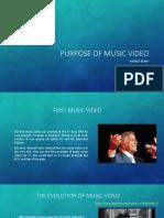 purpose of music video