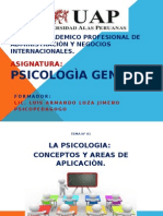Psicologia General, Sesiòn 1, 2, 3.