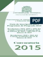 Guía de inscripción para Programas de Posgrado Facultad de Medicina
