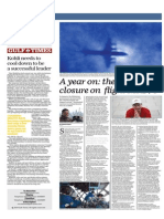 A Year on - There is Still No Closure on Flight MH370 - Gulf Times Qatar - 5 March 2015