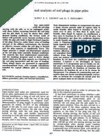 Randolph Et Al-One-dimensional Analysis of Soil Plugs in Pipe Piles