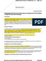 CMHC 98-123 Establishing the Protocol for Measuring Air Leakage and Air Flow Patterns in High-Rise Apartment Buildings