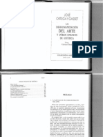 Ortega y Gasset Deshumanizacion v. Bozal