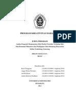 PKMP-5-RYAN-UNDIP-ANALISA PENGARUH MENJAMURNYA MINIMARKET FRENCHISE TERHADAP SIFAT POLA KONSUMSI MAHASISWA DAN PENDAPATAN TOKO KELONTONG MASYRAKAT SEKITAR TEMBALANG,SEMARANG.pdf