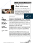 Pope Francis on Catholic Social Teaching_March 2013