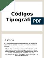 Códigos Tipográficos