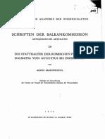 Adolf Jagenteufel - Die Statthalter der romischen Provinz Dalmatia von Augustus bis Diokletian