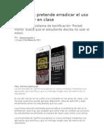 Aplicación Pretende Erradicar El Uso Del Celular en Clase