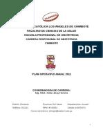 Plan Operativo 2011 Carrera Profesional de Obstetricia