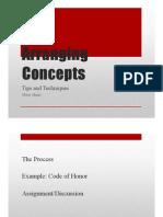 Arranging Concepts