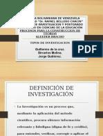 investigacion y tipos investigacion