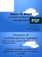 Upper GI Bleed - Endoscopic Management