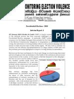 Presidential Election – 2010 Interim Report - CMEV