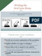 writing a critical lens