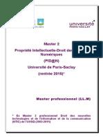 Master PIDAN - Paris-Saclay