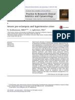 Severe Pre-eclampsia and Hypertensive Crises