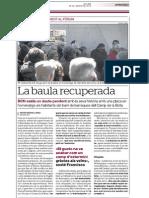 Recull de premsa Camp de La Bota, inauguració placa
