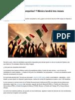 05-03-2015 3..2..1.. Inician las campañas y México tendrá tres meses electorales.