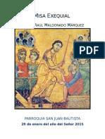 Misa Exequial Padre Raúl Ene2015