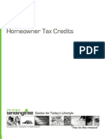 Home Owner Tax Credit Guide
