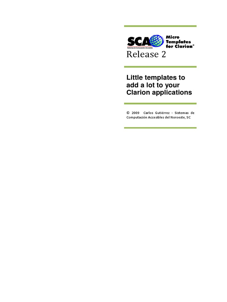 Sca Micro Templates Release 2 Manual   Icon (Computing)   Microsoft ...