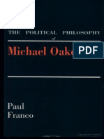 the Political Philosophy of Michael Oakeshott by Paul Franco