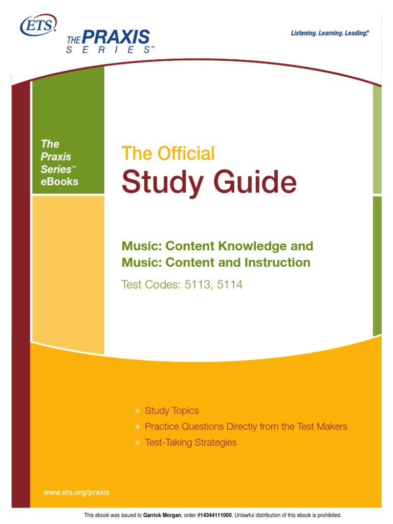 praxis ii music content knowledge ebook educational assessment rh scribd com Math Praxis Study Guide Reading Praxis Study Guide