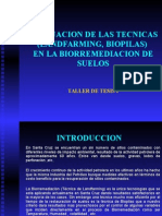 Evaluacion de Las Tecnicas (Landfarming, Biopilas