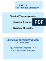 CYL110 Elements of Physical Chemistry
