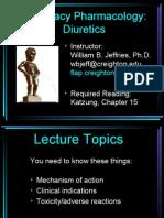Pharmacy Diuretics