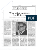 Seth Klarman on Why Value Investors Are Different