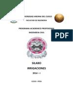 00 Silabo Irrigaicones 2014-I Ing_ Carlos Luna